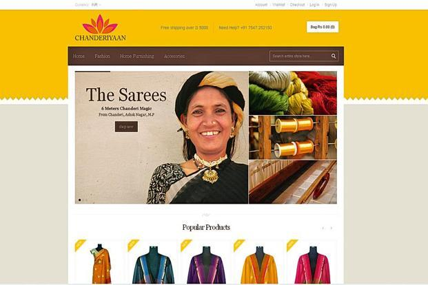 The site currently e-retails saris, stoles and dupattas